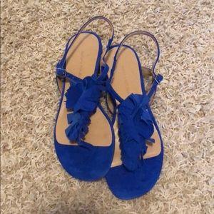 •BANANA REPUBLIC• blue sandals